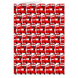 Red London Double Decker Bus Wallpaper Greeting Card