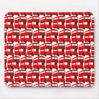 Red London Double Decker Bus Wallpaper Mouse Mat