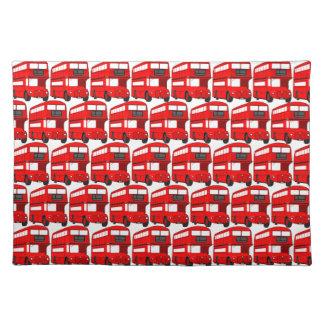 Red London Double Decker Bus Wallpaper Placemat
