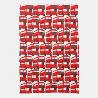 Red London Double Decker Bus Wallpaper Tea Towel