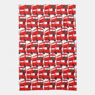 Red London Double Decker Bus Wallpaper Tea Towels