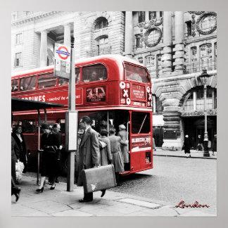 Red London Double Decker Print