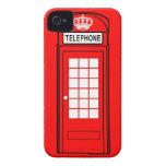 Red London Phone Box with Crown
