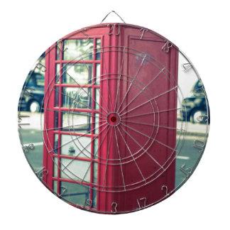 Red London Telephone Box Dartboard
