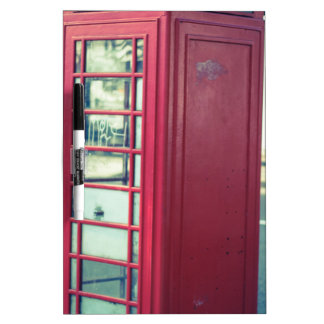 Red London Telephone Box Dry Erase Board