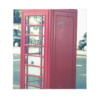 Red London Telephone Box Notepad