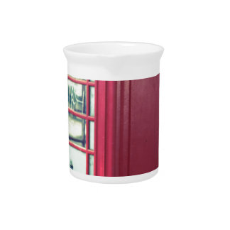 Red London Telephone Box Pitcher