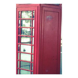 Red London Telephone Box Stationery