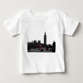 red London Tour bus and Big Ben Baby T-Shirt