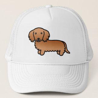 Red Long Coat Dachshund Cartoon Dog Cap