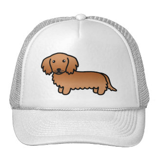 Red Long Coat Dachshund Cartoon Dog Cap