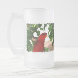 Red Lorikeet Frosted Beer Mugs