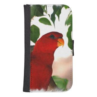 Red Lorikeet Galaxy S4 Wallet