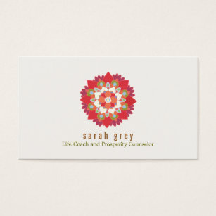 Lotus flower business cards business card printing zazzle uk red lotus flower health wellness elegant floral business card colourmoves