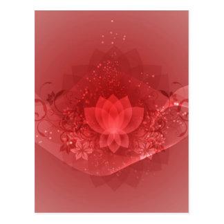 Red Lotus Flower Postcards