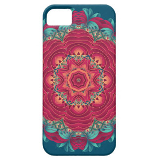 Red Lotus Mandala Barely There iPhone 5 Case