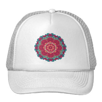 Red Lotus Mandala Cap