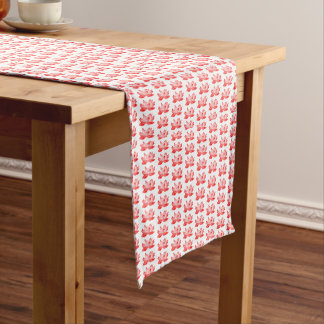 red Lotus Pattern Table Runner
