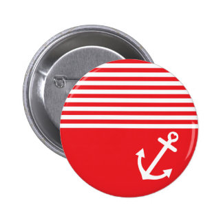Red Love Anchor Nautical Buttons