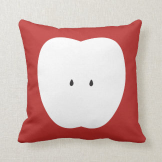 Red Love Apple Summer Fun Throw Pillow