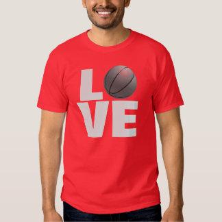 Red Love Basketball Sport T-Shirt