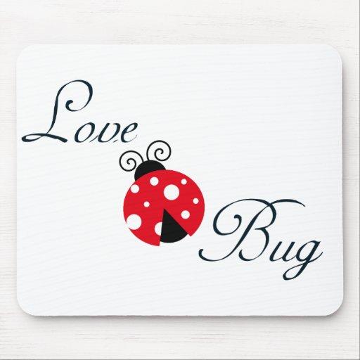 Red Love Bug - Ladybug Mousepads