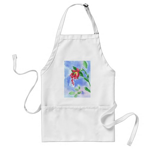 Red Love Flower aceo Apron