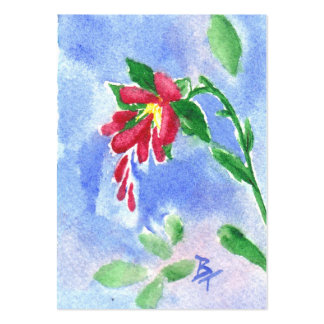 Red Love Flower aceo Pack Of Chubby Business Cards