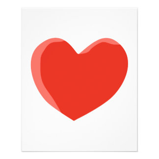 Red Love Heart. Personalized Flyer