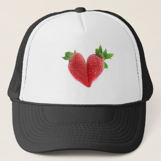Red Love Heart Strawberries Trucker Hat