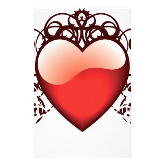 Red Love Heart Symbol Customised Stationery