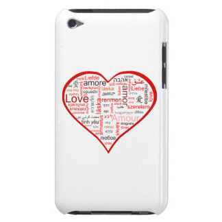 Red Love Heart Typography Barely There iPod Covers