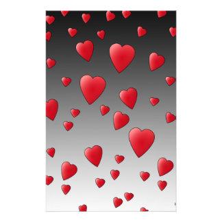Red Love Hearts. Pattern. Flyer