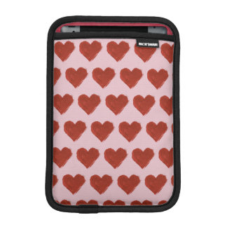 Red Love Hearts Pattern iPad Mini Sleeve