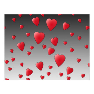 Red Love Hearts Pattern Personalized Flyer