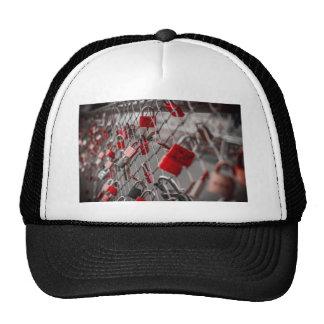 Red Love Padlocks Cap