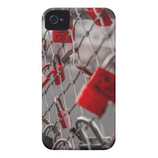 Red Love Padlocks Case-Mate iPhone 4 Case