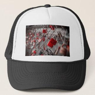 Red Love Padlocks Trucker Hat