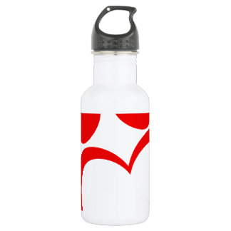RED LOVE PAW PRINT ANIMALS CAUSES PETS CARING MOTI 532 ML WATER BOTTLE
