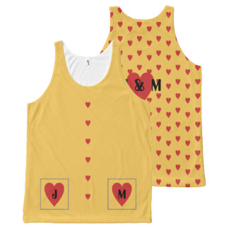 Red Loveheart Initials Vest