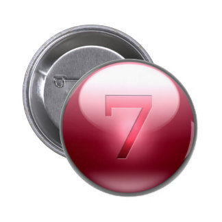 Red Lucky 7 Pin