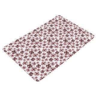 Red Lucky Shamrock Clover Floor Mat