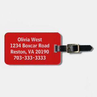 Red Luggage Bag Tag