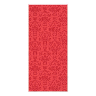 Red luxury damask custom girls name bookmark rack card