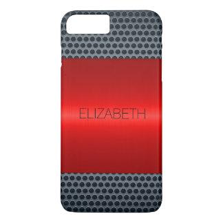 Red Luxury Stainless Steel Metal Look iPhone 7 Plus Case