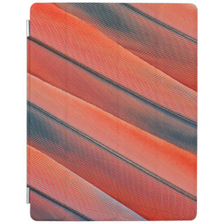 Red Macaw Feather Abstract iPad Cover