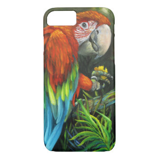 Red Macaw iPhone 7 Case