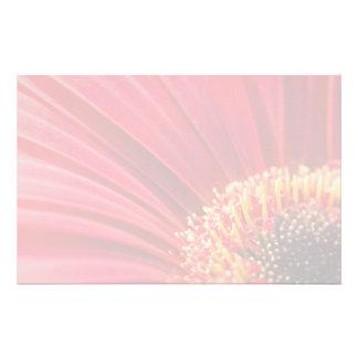Red Macro Gerbera Daisy Flower Stationery