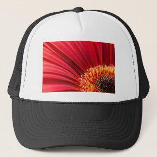 Red Macro Gerbera Daisy Flower Trucker Hat