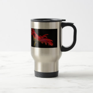 Red Macro Gerbera Flower Travel Travel Mug